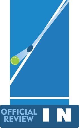 Tennis official review. vector illustration