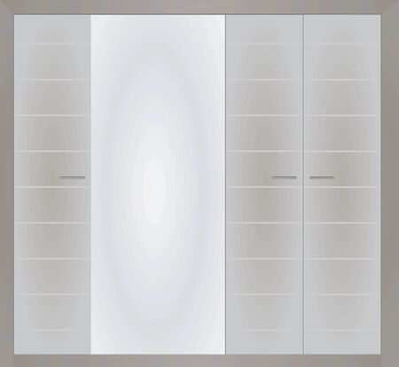Grey closed closet. vector illustration Imagens - 132228358