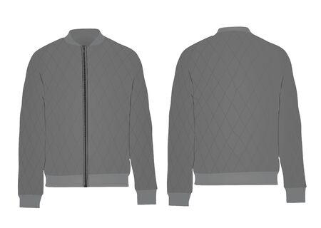 Grey autumn jacket. vector illustration