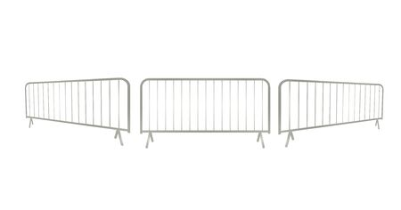 Grey metallic fence. vector illustration Ilustração
