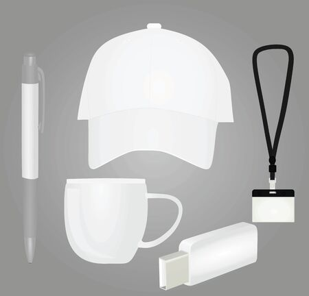 Promotional brand items. vector illustration