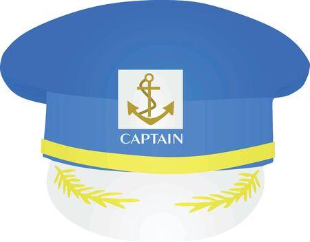 Captains hat. vector illustration 일러스트