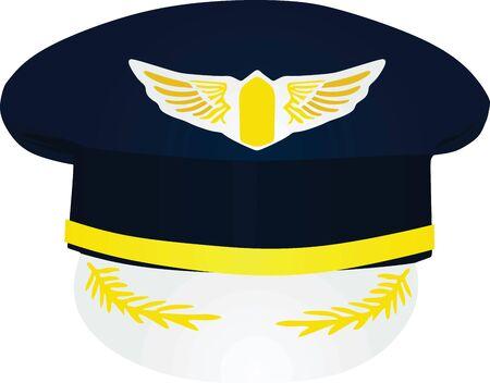 Pilots hat. vector illustration