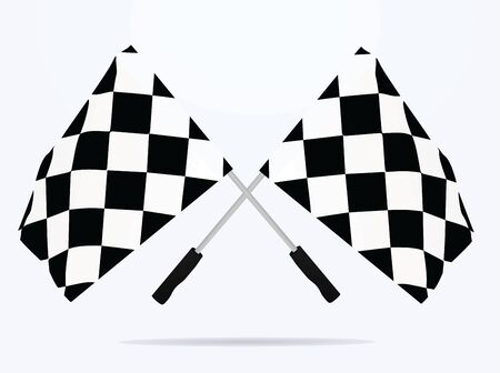 Finish line flags. vector illustration