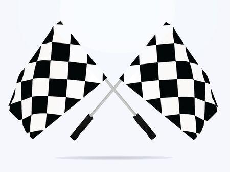 Finish line flags. vector illustration Stock fotó - 132025390