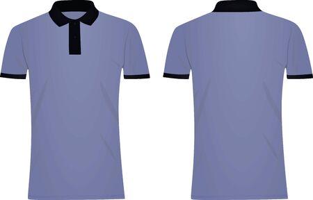 Blue polo t shirt. dark blue collar. vector illustration Illustration