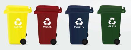 Recycle bins. vector illustration Illustration
