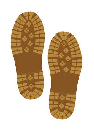 Shoe footprint. vector illustration