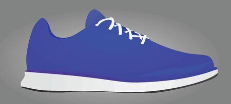 Blue sneaker. vector illustration Stock Illustratie