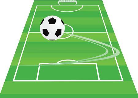 Soccer field. vector illustration