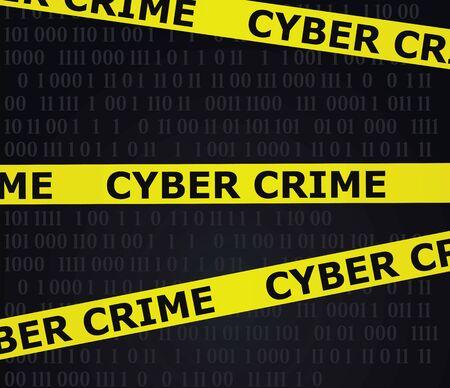 Cyber crime tape. vector illustration