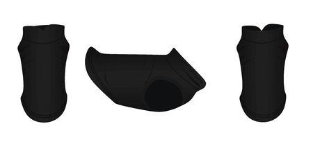 Black dog dress. vector illustration