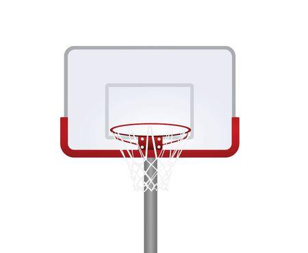 Red basketball basket . vector illustration Çizim