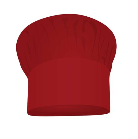 Red chef hat. vector