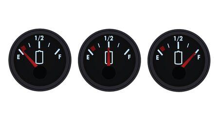 Battery gauge. vector illustration