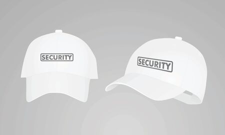 White security cap. vector illustration