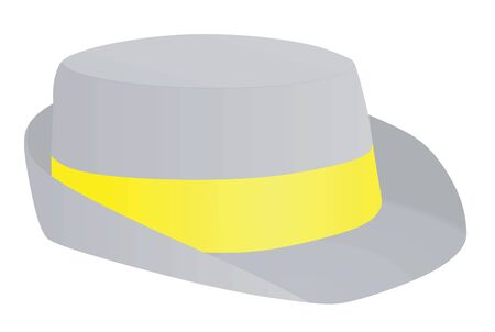 Grey bowler hat. vector illustration