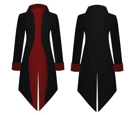Black retro coat. vector illustration  イラスト・ベクター素材