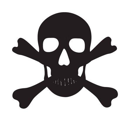 Pirate skull icon.  vector illustration