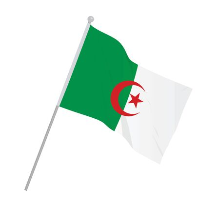Algeria national flag. vector illustration