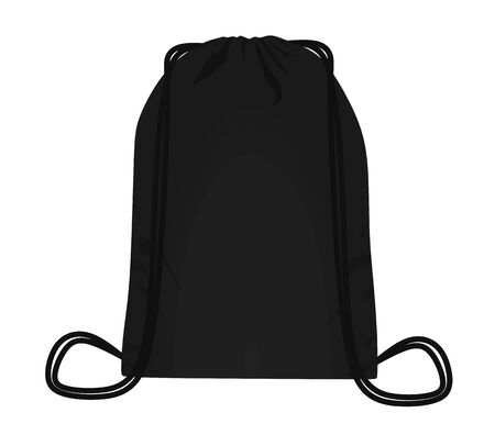 Black backpack bag. vector illustration