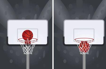 White basketball basket. vector illustration