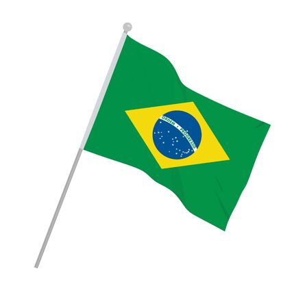 Brazil national flag. vector illustration Çizim