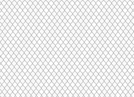 Clôture en chaîne métallique. illustration vectorielle