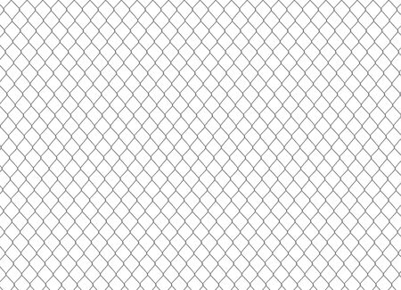 Metallic chain fence. vector illustration