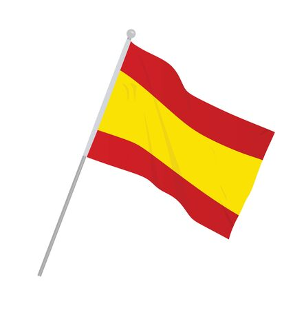 Spain national flag. vector illustration