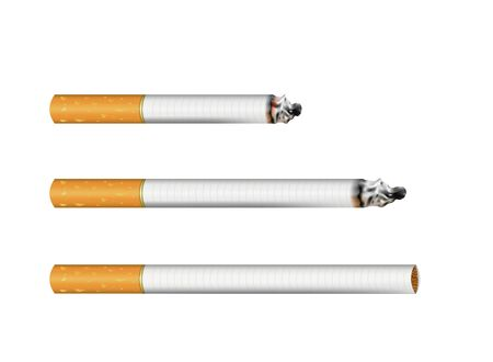 Set of cigarettes, realistic vector Stok Fotoğraf - 132228187