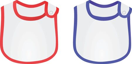 Baby boy and baby girl apron. vector illustration