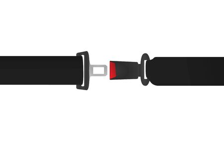 Car safety belt. vector illustration