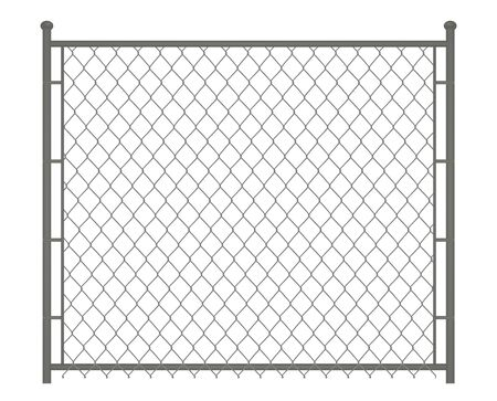 Silver chain fence. vector illustration