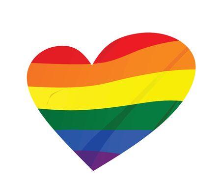 Rainbow heart. lgbt concept. vector