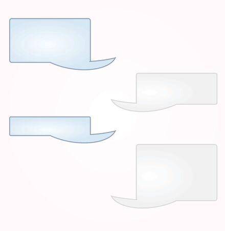 Blank messaging text boxes. vector Ilustração