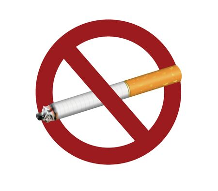 No smoking sign. vector illustration Banque d'images - 132228205