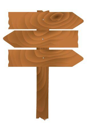 Wooden planks sign. vector illustration