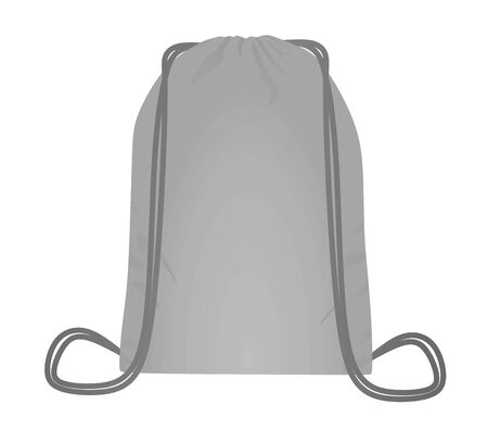 Grey backpack bag. vector illustration  イラスト・ベクター素材