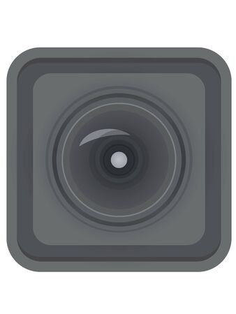 Rectangle camera lens. vector illustration