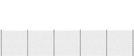 Grey chain fence. vector illustration