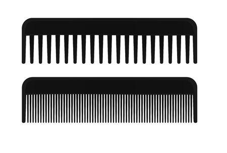 Black hair brush. vector illustration