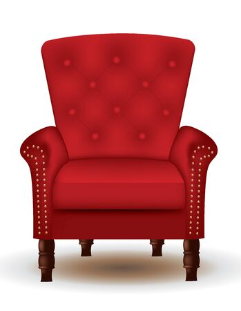 Royal red chair. vector illustration Stock Illustratie