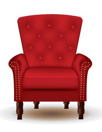 Sedia rossa reale. illustrazione vettoriale Vettoriali