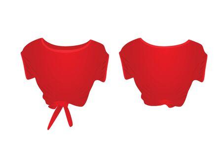 Red  crop top. vector illustration Illusztráció