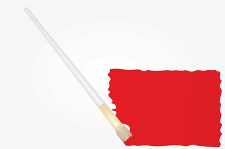 Red paint trail. vector illustration