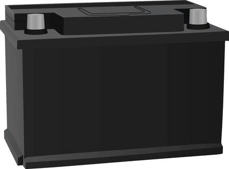 Autobatterie. Vektor-Illustration
