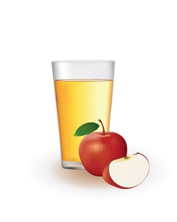 Apple juice. vector illustration Ilustração