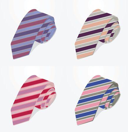 Striped ties vector illustration Illustration