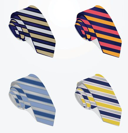 Striped ties. vector illustration